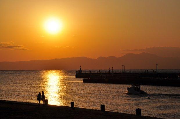 湘南の夕陽