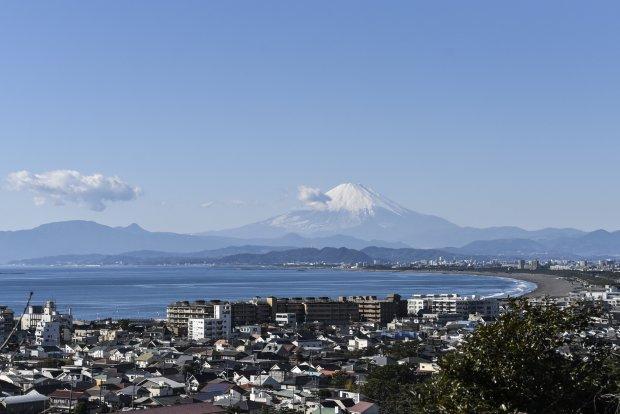 龍口寺から望む富士