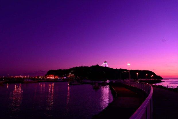 湘南の夕景